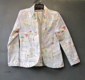 cartoon motif blazer