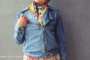 Biker jaket denim
