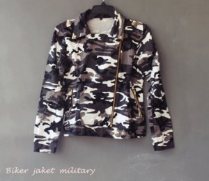Biker jaket military